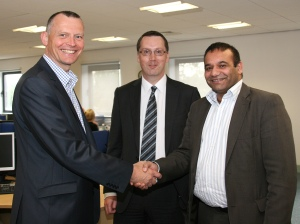 Councillor Shoab Akhtar, Peter Studd and Andrew Kendall