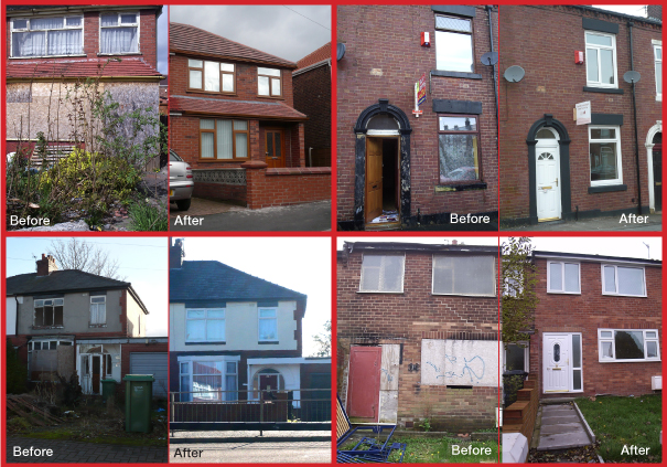Before and after: Vacant properties in Oldham