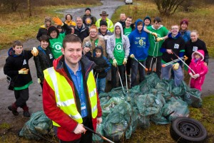 CIVIC PRIDE: A team of 40 volunteers are 'doing their bit' to improve the Wrigley Head site