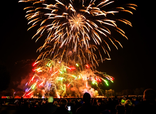 THE BIG BANG: Oldham Edge played the perfect host on a night that entertained thousands of families.