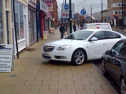 SELFISH: Union Street has been plagued by parking like this.