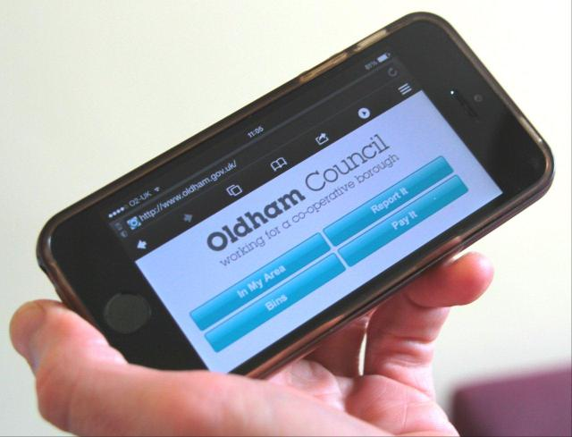 IN YOUR HANDS: Residents will soon to be able to engage with many of our services online at the Oldham Council website.  Oldham Council's website