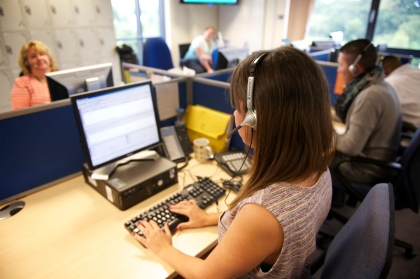 WHO YOU GONNA CALL? Oldham Council's Contact Centre staff deal with between 10,000 and 12,000 phone calls a week.