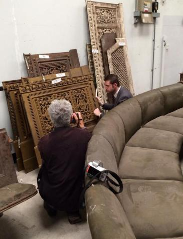 SAVED: Many pieces of furniture from the Old Town Hall have been stored safely for future use