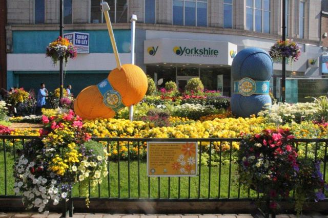 BLOOMING: The WOW bed is again proving a stunning summer centrepiece in Oldham town centre.