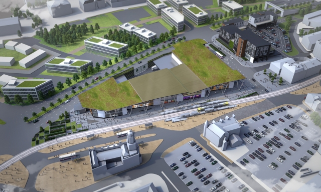 VISION: CGI view from above of the Prince's Gate at Oldham Mumps site.