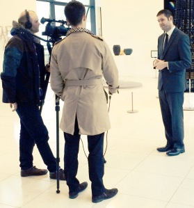 SPOTLIGHT: Explaining Oldham Council's 'Invest to Grow' strategy to the Financial Times this week at Gallery Oldham.
