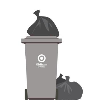 Grey bin with bags 2 flipped